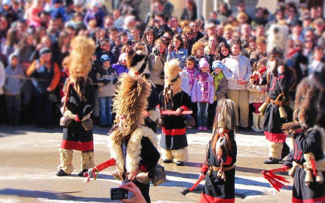 Традиционният кукерски събор в с.Широка лъка